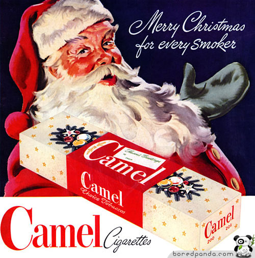 Nothing spreads the Christmas spirit like a carton of Camels.